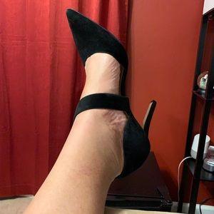Shoe-Black Suede Vince Camino Size 12M